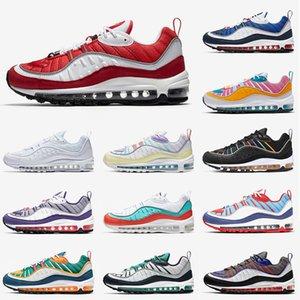 الجملة 2020 نوعية جديدة ماكس 98 للرجال أحذية رياضة الجري GYM الأحمر جاندام عيد الفصح الوردي الكونية كلاي ساوث بيتش مصمم النساء حذاء 36-45