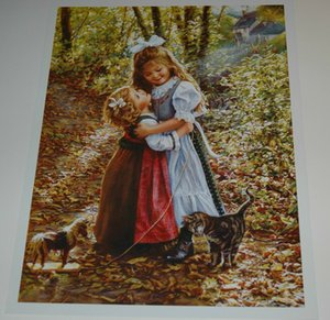 Sandra Kuck - MY BIG SISTER Home Decor Handpainted &HD Print Oil Painting On Canvas Wall Art Canvas Pictures 200709