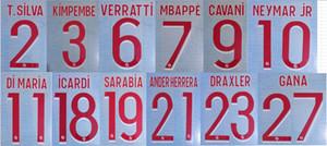 2020-2021 HOME T.SILVA KIMPEMBE VERRATTI MBAPPE CAVANI DI MARIA NEYMAR JR ICARDI SARABIA ANDER HERRERA GANA nameset patch badge