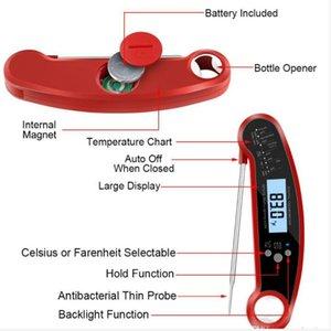Thermometer Digital Instant-Fleischthermometer Beste Wasserdicht Sofort lesen Thermometer Kalibrierung und Hintergrundbeleuchtung Funktion Thermometer DHC166
