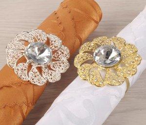 Цветок Люкс Салфетки Кольцо из нержавеющей стали высокого качества Салфетка Держатели для отеля Wedding Party Table Decoration