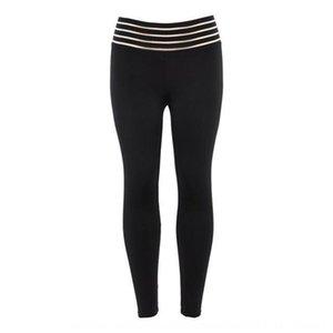 pantalon hip yoga taille haute squat pratique rayé serrés élastiques Yoga leggings taille des pantalons serrés