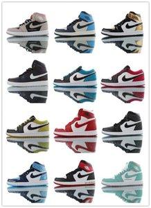 nike 2020 toprétro Nakeskin Jordan AJ1 aj 1qualité de l'air hommes Sneakers femmes volent des chaussures de basket-ball ShatterPNgT #