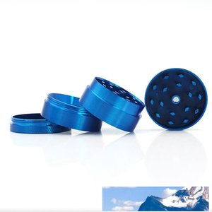Top Quality Colorful 40*35mm 4 Parts Zinc Alloy Herb Grinder for Tobacco Smoking Herbal Smoking Grinders 100 Pack