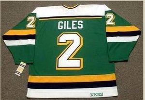 2. CURT GILES Minnesota Kuzey Yıldız 1990 CCM Hockey Jersey Boyut S-5XL Vintage veya özel herhangi bir ad veya numara Custom Erkekler Gençlik kadınlar
