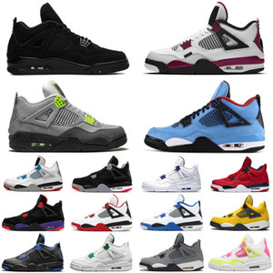 nike air jordan retro 4 4s psg cactus jack travis scott jumpman neon hombres mujeres zapatillas de baloncesto negro gato atletismo hombres entrenadores zapatillas deportivas