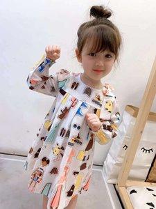 Baby-Mädchen Plaid-Kleid Herz-Druck Bekleidung Fliegen Sleeve Kleinkind-Kind-Kleid für Mädchen-Kleidung Vestidos B439