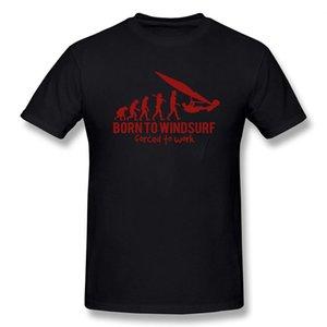 Виндсерфинга Evolution Новый Смешные Футболка Мужчины Короткие рукава Hip Hop Крупногабаритные O-образным вырезом Хлопок футболки
