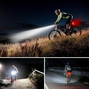 MTB Bike Front Handlebar Rear Tail Lights USB Recharge Bicycle Lamp Headlight Cycling Light Sets