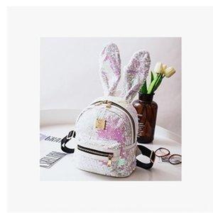 EESBD personnalisé lapin grand Tu Er Boucles d'oreilles oreille pailletée sac à dos à la mode mignon petit sac coloré Voyage tout match sac à dos féminin tre