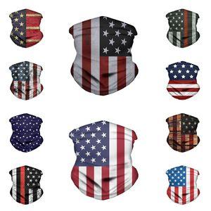 Bandana stella striscia dell'America maschera bandiera Magia Sciarpe Outdoor Sport Ciclismo maschera Turbante Foulard Designer MasksT2I51246
