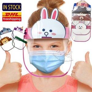 Em da Universal face escudo anti-fog máscara protetora HD transparente à prova de crianças Criança completa Rosto Oil-respingo máscaras contra poeira proteção segura