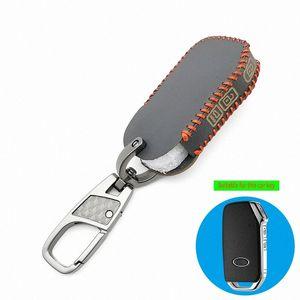 Couro Car Key Fob pele Set caso capa Shell titular para Kia Sportage 2018 2019 R Stinger remoto Sorento Cerato Protect Key Bag Key Ma FX1N #