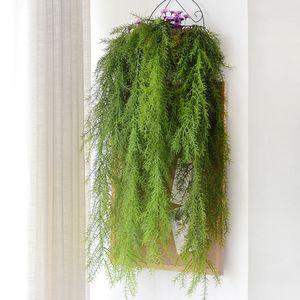 Xmas Fern Vine Plastic Green Hanging Eucalyptus Grass Rattan Balcony Artificial Pine Needle Plant Artificial Ivy Vine Flowers