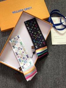 Neuesten schwarz weiße Farben weichen 100% Seide Schal Frauen Mode Top-Qualität sehr weich Band Seide Haarbeutel Handgelenk Schal Stirnband Fliege