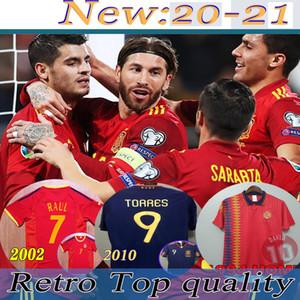 2020 Spagna maglia da calcio Camiseta España PACO MORATA A.INIESTA PIQUE 1994 2010 Retro Spagna Coppa Europa ALCACER SERGIO ALBA Uomi bambini vestito