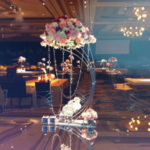 """5PCS Gold Flower Stand 82CM  32.3"""" Tall Metal Road Lead Wedding Centerpiece Flowers Rack For Event Party Home Decoration"""