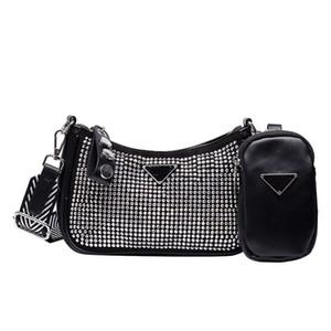 gancio della borsa 2020 nuove signore borsa di pelle borsa grande nome strass ascelle immagine e la madre di spalla del messaggero borsa portafoglio borsa