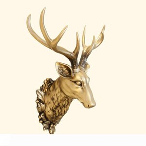 [MGT] الكبير رئيس دير تمثال اكسسوارات الديكور 3D الحيوان مجردة النحت جدار هانغ ديكور تمثال عيد الميلاد غرفة المعيشة جدارية