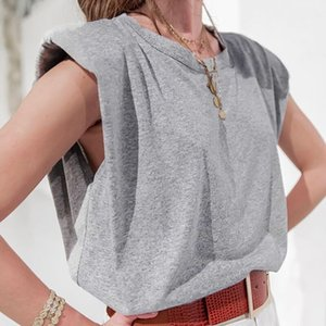 20s Summer Women Designer T Shirts Sleeveless Solid Color Women Vest Tees Fashion Loose Style Womens Casual T Shirt Vest Size S-L