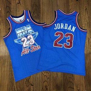 Hot Sale Men's Top Michael jor dansn Mitchell Ness 1993 All Star Blue Stitched Jersey