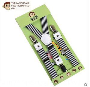 Kangdai marka çocuk butik gelişmiş deri unisex klip askısı askısı güçlü üç klip çok renkli