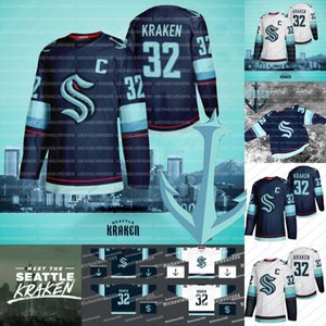 Сиэтл Kraken Джерси Хоккей Джерси 2021 Сезон Пользовательские Мужчины Женщины Молодежь 100% Вышивка двойной прошитой Трикотажные рубашки хорошего качества