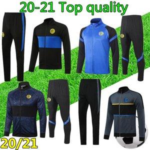 20 21 Mens INTER футбола спортивного костюма футбол костюм молния куртка 2020 2021 футбола костюм куртка survetement chandal