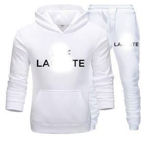 Lacoste Designer 2020 Luxury Brand Uomini Imposta Hooded Sweat tuta pista Abiti Maschio Sweatsuit Mens di sport