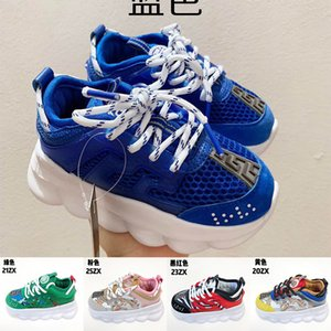 2020 Hot sale Chain Reaction kids Luxury Designer Casual Shoes baby boys Fashion sneaker mix brand Multi Clash Animalier outdoor Shoes 26-37