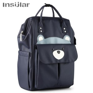 Insular Mommy Bag Backpack Large Capacity Waterproof Baby Bags Diaper Bag with Changing Pad Stroller Hanging Strap Storage