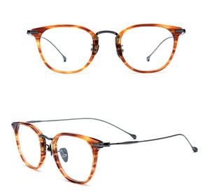 Kutu 4 Renk olan kadınlar Erkekler Miyop Optik Gözlükler Saf Titanyum Çerçeve Gözlükler Gözlükler Moda Okuma Gözlüğü Gözlük Çerçevesi