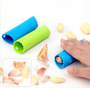 Alho Peeler Magia Silicone alho Peeler Imprensa Cozinhar Cozinha Peeling Ferramentas Tubo Peel fácil ferramenta da cozinha Prensas macia Acessórios ALSK149