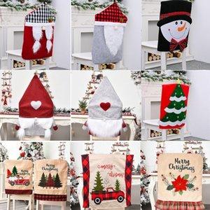 Cadeira de Natal Covers Snowman Árvore de Natal jantar assento da cadeira Tampa Home Decor Natal Slipcover Cozinha Caso cadeira Slipcover DWA785