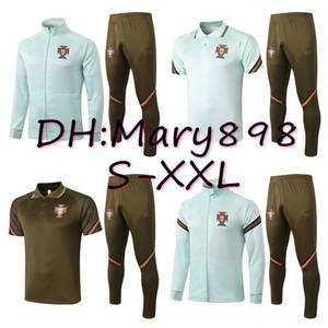 Qualità eccellente portoghese 2019 2020 RONALDO FELIX JOAO DIAS GUERREIRO GUEDES CARVALHO usura di addestramento / possono essere venduti separatamente giacca / pantalone S-XXL