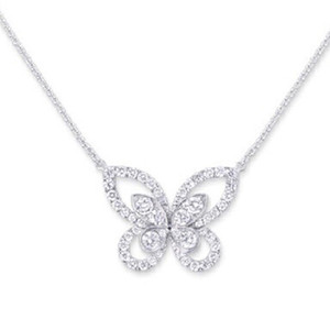 Victoria Wieck Luxury Jewelry Real 925 Sterling Silver Pave White Topaz CZ Diamond Gemstones ButterflyPendant Lucky Women Necklace For Party