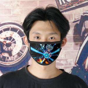 Dhl Free Shipping Goku 0620 Washable Facemasks Reusable Face Mask For Women Ice Silk Bilayer Cubrebocas Masque Tissu Tapaboca MMnwI