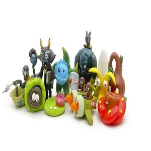 10шт / набор Растение VS Zombies Симпатичного ПВХ Фигурка игрушка Кукла Игра Игрушка Zombies Brinquedos для детей 2-7cm