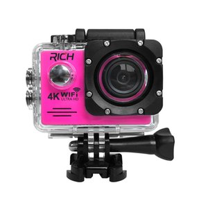 Hot selling HD Action Camera wifi for rich Extreme Sports camera Video 1080P 30m Waterproof sports camrea Extra head strap+bag+Monopod