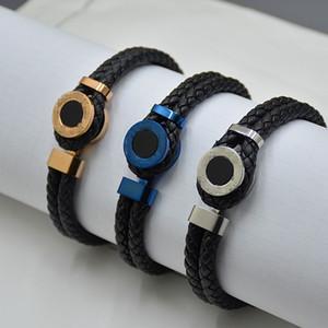 Promoção - clássico preto tecido braceletes luxo mtb branding francês mens homem jóias charme pulseiras pulseira como presente de aniversário