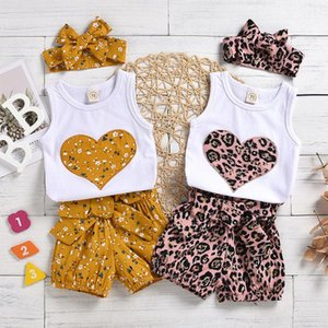 Infant Newborn Baby Girls Floral Vest Tops Shorts Pants Casual Outfits Set