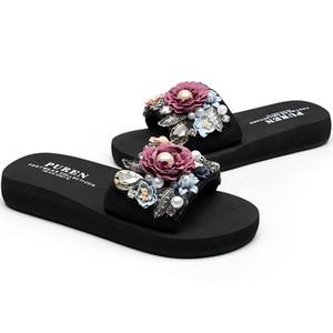 Summer DIY Slippers Casual Outside Women 2018 Fashion Female Ladies flip flops Footwear Beach Flat Shoes low heel 3cm SIZE 35-42 Y200624