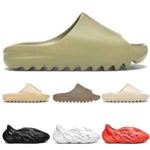 kanye slides men women slippers runner Slide Resin Bone Desert Sand triple black fashion men slides beach 36-45