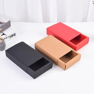 Экологию Kraft Paper Box Jewelry Организатор Lipgloss Контейнеры Подарочные Печенье Белье Духи Чай Упаковка Brief 1 3sz D2