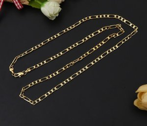 "HIPHOP Men women Necklace plating 18K Gold 4MM 3 1 Side chain Necklace 16"" 18"" 20"" 22"" 24""  26""  28""  30"" for Pendants"