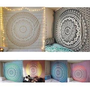 India Mandala Tapestry Wall Hanging Cloth parete Macrame Arazzi Night Sky Luna Arazzo tappeto 2020 NUOVO ^^