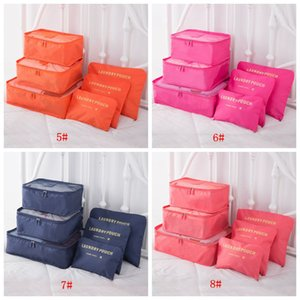 6pcs Set Travel Makeup Bag Home Luggage Storage Clothes Storage Organizer Portable Cosmetic Bags Bra Underwear Pouch Storage Bags DBC BH3266