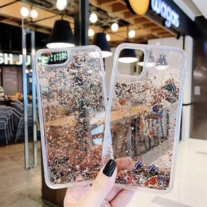 For Iphone 11 Pro Max XS XR X 8 7 6 Plus Liquid Quicksand Case Bling Glitter Shinny Special Pattern Floating Sparkle Fashion Phone Cover