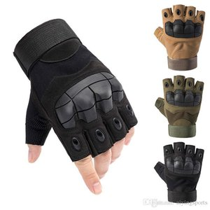 Motorcycle Cycling Riding Tactical Gloves Men's Hard Knuckle Fingerless Gloves Bicycle Shooting Paintball Airsoft Motor Half Finger Glo