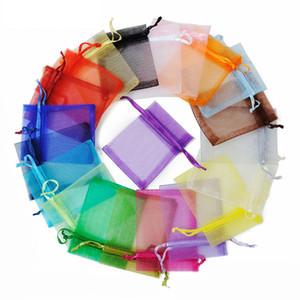 Ювелирные сумки MIXED органза ювелирные изделия венчания партии Xmas подарочные пакеты Фиолетовый Синий Розовый Желтый Черный с кулиской